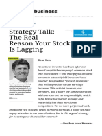 Strategy Talk the Real Reason Your Stock Price is Lagging