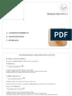 1 - Numeros racionalización e intervalos