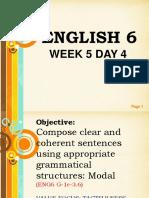 English 6 Week 5 Day 4