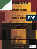 EN LONTANANZA. Danza. Jerónimo Velasco. Transc. piano Gerardo Betancourt.