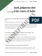 40 Landmark Judgments by Supreme Court (Sandeep Chauhan)