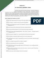 Checklist_Basic Franchise Agreement Terms