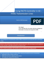 Advantages of Using FACTS Controller in AC -HVDC Transmittion