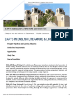 B.arts in English Literature & Linguistics _ Qatar University