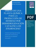 285178700 Diseno de Una Planta Quimica Para La Produccion de Estireno