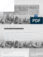 development economics and economic development