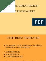 Criterios de Validez