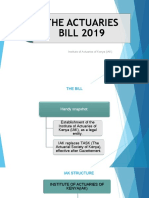 Actuaries Bill 2019 Presentation