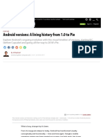Android Versions a Living History From 1