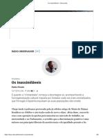 Print s Inassimiláveis – Observador