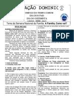 Folheto 11 de Agosto 2019 - 19º Domingo Do Tempo Comum