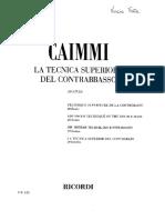 Caimmi - La Tecnica Superiore del Contrabbasso 20 Studi.pdf