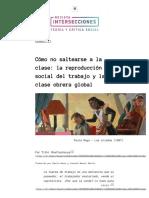 Intersecciones - Cómo no saltearse a la clase_ la reproducción social del trabajo y la clase obrera global