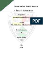 Planeación Matemáticas 10º - 2019