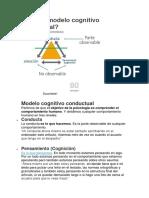 Qué Es Modelo Cognitivo Conductual