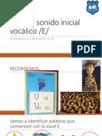 Apoyo Clase 91 Pac Lenguaje Sonido Inicial Vocal e