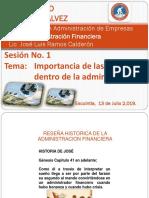 Presentacion Sesion i. Admon Financiera. 2019
