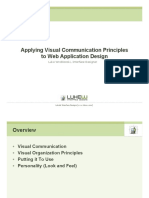 Visual Communication Principles for Web Application Interface Design