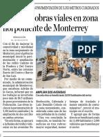 07-08-19 Arrancan obras viales en zona norponiente de Monterrey