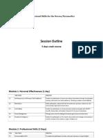 Session Outline - Professional Skills for Nurses 18.2.2019