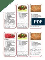 Panfletos Com Receitas saudáveis