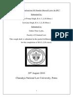 Gender Neutralisation of IPC (Final Rough Draft)