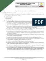 000-0249 Rev 00 Plan de Contingencia en Caso de Lluvias Proyecto Las Chispas