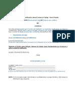 Modelo Certificado Laboral Sector Privado