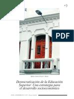 Democratizacion de La Educacion Superior