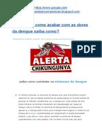 Quero Acabar Com Os Sintomas Da Dengue/verdade/bula/2019/sintomas/dengue