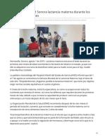 01-08-2019 Recomienda Salud Sonora lactancia materna durante los primeros seis meses - Canalsonora