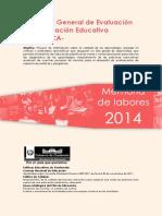 Memoria Labores 2014 DIGEDUCA