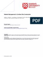 Material Management Within Confined Construction Sites