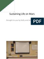 sustaining life on mars