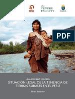 SITUACIÓN LEGAL DE LA TENENCIA DE TIERRAS RURALES EN EL PERÚ