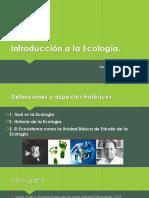 CLASE 1 Introducción a la Ecología
