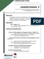 Dhamotharan New Updated Resume