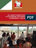 LARGO CAMINO HACIA LA TITULACIÓN DE COMUNIDADES Informe de Adjuntia 002 2018 DP
