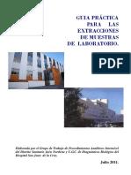 Guía práctica para extracciones de muestras de laboratorio