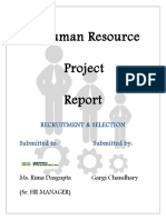 Human Resource PROJECT FILE