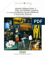 IRRI Biodiversity Software Series V. RARE, SPPDISS and SPPRANK