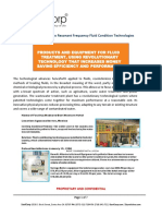 Frequency Fluid Based Treatment Plants