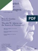 Adorno Vorlesungen 2019 Flyer