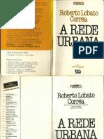 Livro a Rede Urbana - RLCorrêa