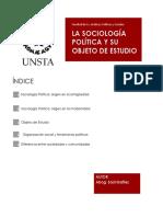 La Sociología Política y Su Objeto de Estudio