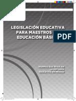 Legislación educativa para maestros de educación básica - Antología
