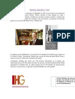 Proyecto Operacion Hotelera Holiday Inn