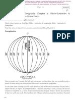 Ch 2 Globe Latitudes Longitudes Part 2