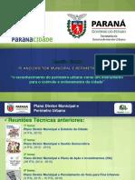 Apresentação Reunião Técnica - Plano Diretor Municipal e Perímetro Urbano