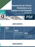 Implementacion de criterios bioclimaticos en arquitectura